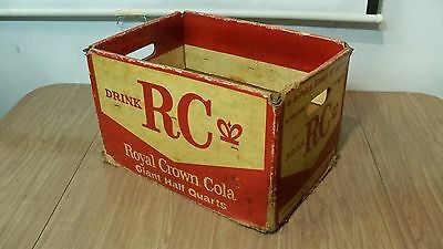 Vintage Cardboard RC Royal Crown Cola Soda Pop Crate Box Carrier Graphics (A)