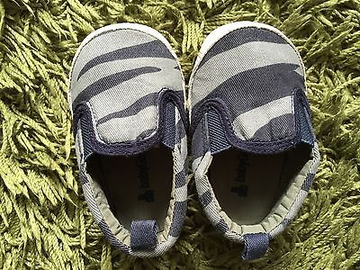 Baby Gap Blue Camouflage Trainers/Sneakers/Shoes 6-12 months