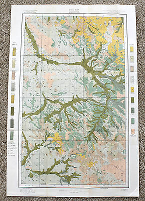1907 McKenzie North Dakota Map Original Soil Survey Color Lithograph Dept Agri