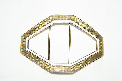 Antique Silver and guilloche enamel Swedish buckle C1910