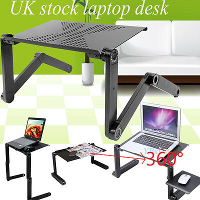 Adjustable Laptop Table Stand Lap Sofa Bed Tray Hold for Computer Notebook Desk