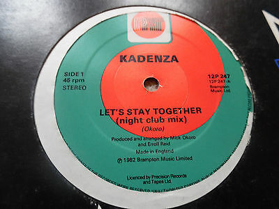 "Kadenza - Let's Stay Together - Disco Boogie Brit - 12"" - 1982"