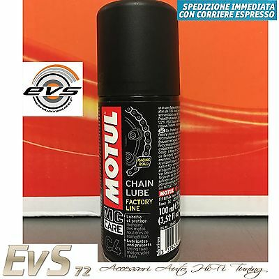 MOTUL C4 Chain Lube FL Factory Line Grasso Spray Catena Moto Strada Race 100 ml