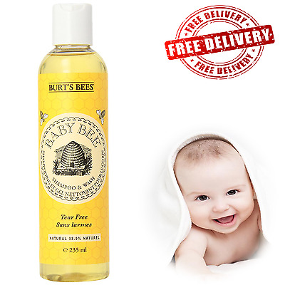 Burt's Bees Baby Bee Shampoo and Wash, 235 ml - Plant-based *Free Fast Delivery