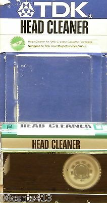 TDK Dry Type Head Cleaner for VHS-C & S-VHS-C Video Cassette Recorders (VCL-11)