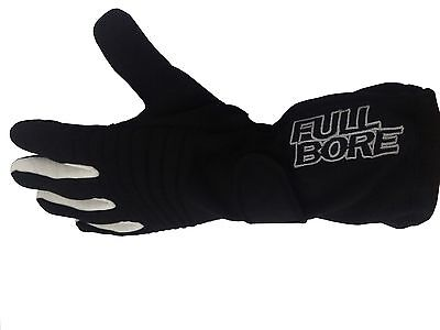FULL BORE Race Gear TGX Black Race Gloves SFI 3.3