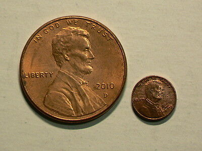 US, Small Tiny 1964 Lincoln Penny, 8mm Copper  #G5356