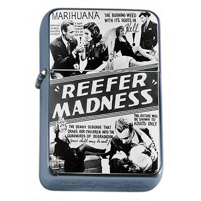 Reefer Madness Vintage Poster D1 Windproof Dual Flame Torch Lighter Refillable