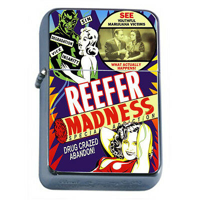 Reefer Madness Vintage Poster D5 Windproof Dual Flame Torch Lighter Refillable
