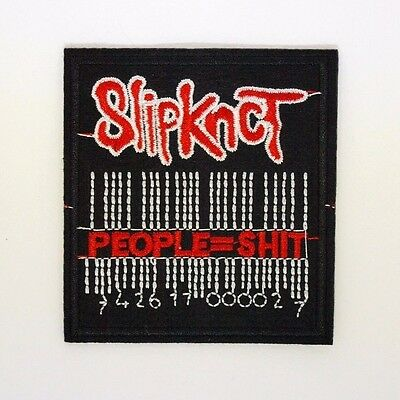 Slipknot Patch - Iron On Badge Embroidered Motif - Metal Band People=Shit - #265