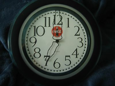 """vintage Coca Cola 12"""" Wall Clock With Bottles As Hands Battery Operated"""