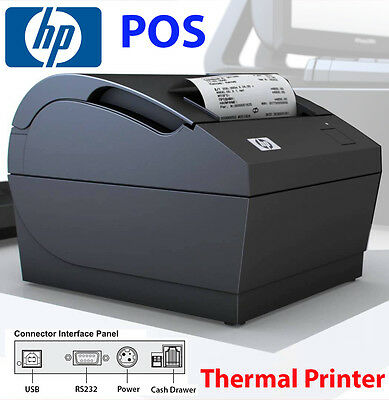 HP Thermal Receipt Printer 80mm Auto Cut RS232 Serial USB for POS Point of POS