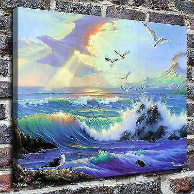 """12""""x16""""A seagull Painting HD Print on Canvas Home Decor Wall Art Picture posters"""