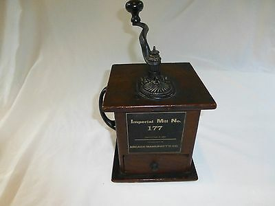 Antique coffee grinder, Imperial Mill No. 177 by Arcade Manufacturing Co. 1889
