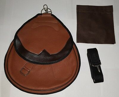 New Falconry Nubuck Leather Bag, Hawking Bag with Strap and Separate Meat Pocket