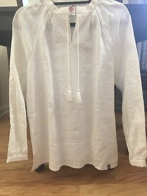 Ukrainian Embroidered Women's Blouse White