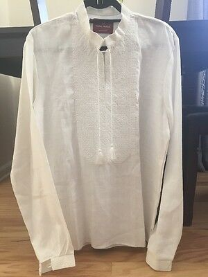 Ukrainian Embroidered Men's Shirt XXL
