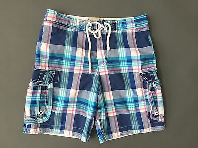 9bc20451de HOLLISTER Plaid shorts swim trunks mens Size Medium M Blue Pink White