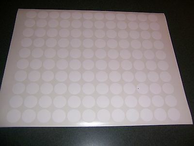 120 WHITE Blank garage yard sale stickers labels price tags self adhesive tabs