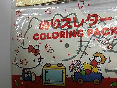 1976 Vintage Sanrio Hello Kitty Coloring Pack NEW Old Stock W/ Stickers