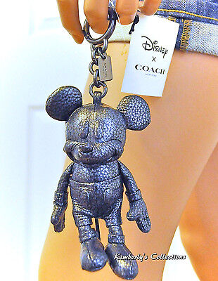 COACH X DISNEY Limited Edition MICKEY MOUSE Leather Bag Keychain Charm Doll NWT
