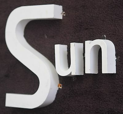 Vintage letters industrial mid century modern metal font salvage sign lot wall