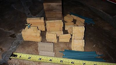 Vintage Model Train Wood Stacks, Different Sizes + Holding Stakes