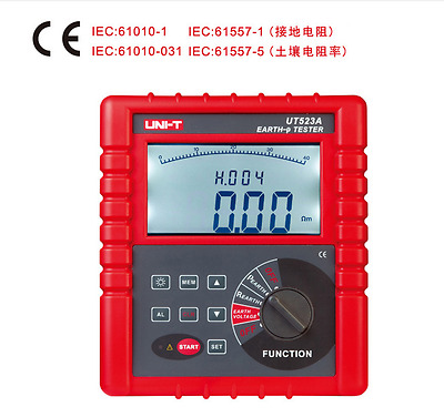 UNI-T UT523A Digital 2/3/4 Pole Earth Ground Resistance Voltage Soil Tester RS23