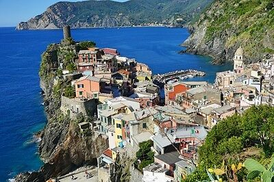Italian limited-edition photo art fridge magnets - 90 x 55mm - Vernazza