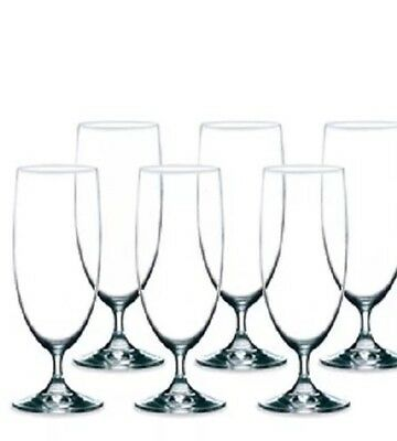 NEW ECOLOGY WATER BEER GLASSES SET OF 6 GLASS GLASSWARE 380ml DRINKING CLEAR