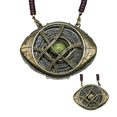 New Dr Doctor Strange Pendant Eye of Agamotto Necklace Cosplay Prop Marvel Movie
