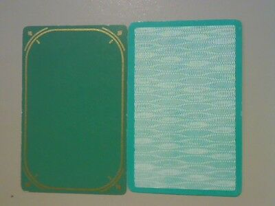 2 Single Swap/Playing Cards  - Assorted Patterns/Designs Green