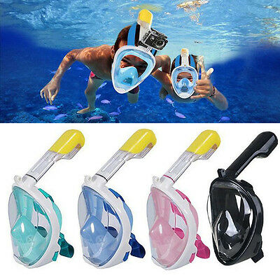 New 180° Anti-Fog Full Dry Face Mask Swimming Diving Snorkel Scuba For GoPro JS