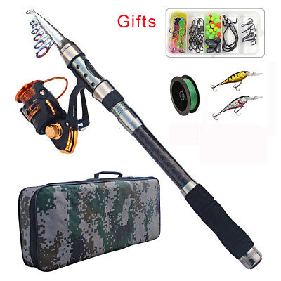 2.1M-3.6M Fishing Rod Reel Combo Portable Telescopic Fishing Rod & Reel Full Set