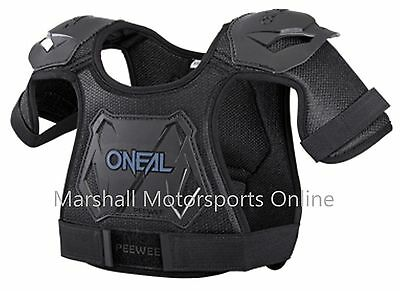 Oneal racing pee wee chest armour protection motorbike bmx black MD/LG (4-7yrs)
