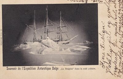 1897-99 Belgian Antarctic Expedition, 1905 postcard used from Kristiania