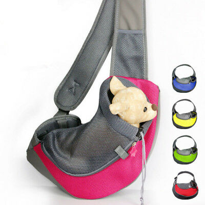 Pet Carrier Carrying Cat Dog Puppy Small Animal Sling Front Carrier Mesh Comfort