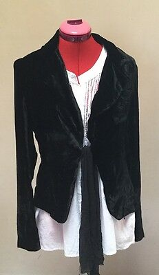 Black Velour Jacket Size 40 (12)