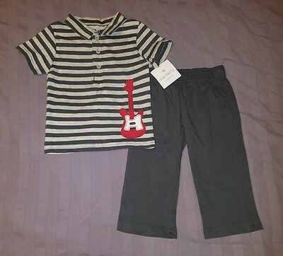 NWT Carters Baby Boy Clothes 9 Months Two Piece Guitar Shirt Pants Outfit