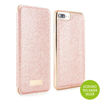 741fd486f1e02f OFFICIAL TED BAKER iPhone 7 Plus SPRITSIE Mirror Folio phone Case - Rose  Gold