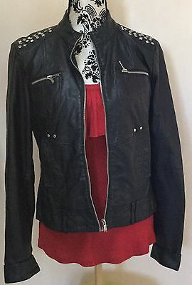Black Pleather Jacket Size 12