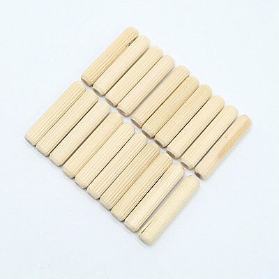 Woodworking Hardwood Round Dowel Pins Wooden Craft Rods Furniture Fitting Tools