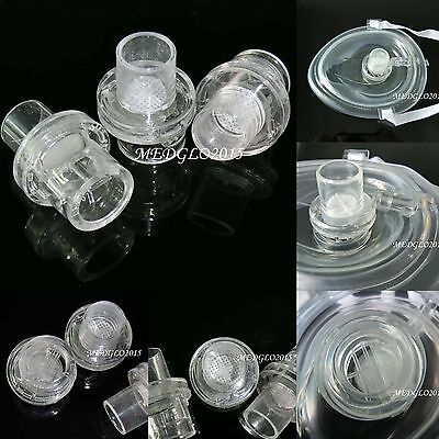 500pcs 22mm Clear Pocket CPR Mask Inlet One Way Valve CPR First Aid Training
