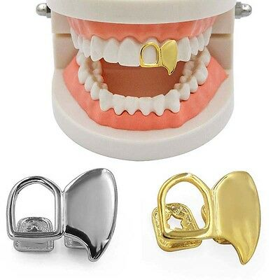 Cool Rock Hollow Fangs Teeth Grillz Canine Tooth Grills Hip Hop Jewelry Kit Gift