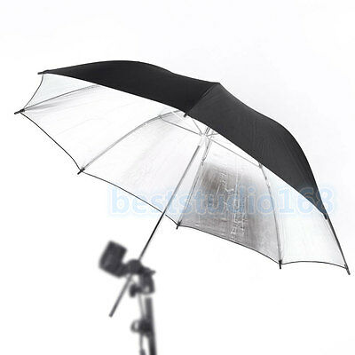 "Professional 33""/83cm Reflective Black Sliver Umbrella for Photo Studio Lighting"