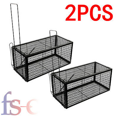2X Rat Rodent Rabbit Animal Rat Mouse Catcher Large Cage Trap Indoor Outdoor
