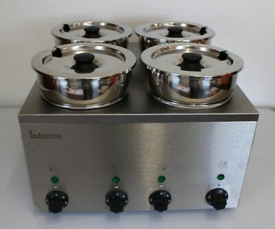 Electric 4 Pot Bain Marie -Wet Operation - NEW