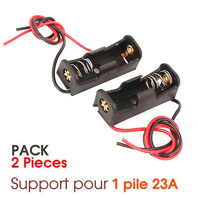 PACK x2 PCS Boitier Bloc Support pour Pile 12V 23A MN21 Battery Holder Case DIY