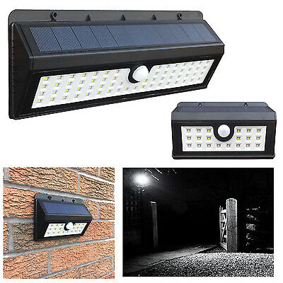 Solar Power Wireless Rechargeble Battery LED Security Wall Spot Light PIR Sensor