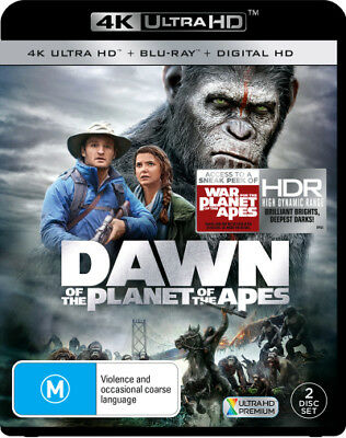 Dawn Of The Planet Of The Apes UHD 4K Blu-ray Region B New!
